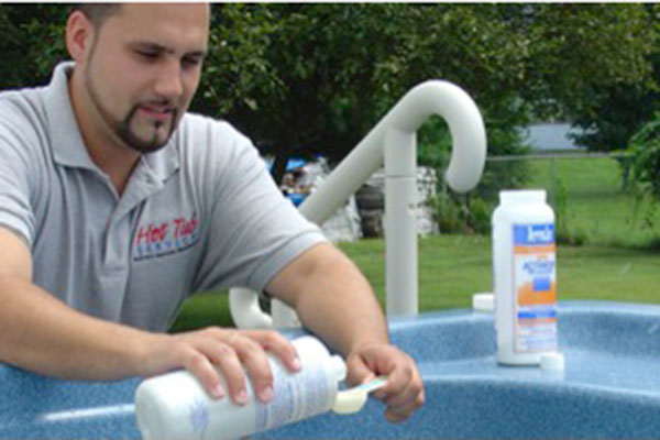 hot tub cleaning schedule and routine