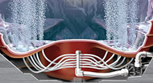 thermospas hot tubs features bubbling system